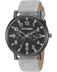 Steve Madden Fashion Watch Smw256bk-gy - Gray
