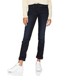 G-Star RAW Damen Midge Mid Waist Straight Jeans - Blau