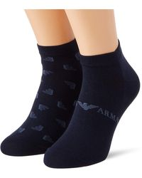 Emporio Armani - Underwear mens Shoe Socks Set 2Pack Casual - Lyst