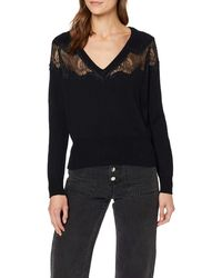 Guess LS V-Neck Evita Sweater Jersey - Negro