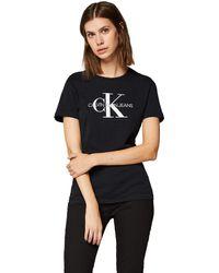 Calvin Klein Jeans J20J207878 Core Monogram T-Shirt E Canotte Donna - Multicolore