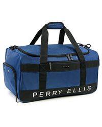 Perry Ellis - Medium Weekender Travel Duffel Bag With Shoe Pocket - Lyst