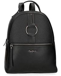 Pepe Jeans Daphne 33cm Casual Backpack, Black (black) - 7742261