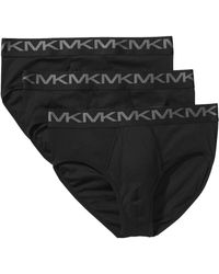 Michael Kors `s Performance Cotton Classic Briefs 3 Pack - Black