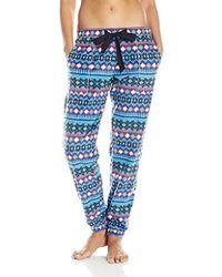 Lyst - Kensie Floral Pajama Tee in Blue