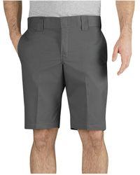 Dickies 11 Inch Slim Fit Stretch Twill Work Short - Gray