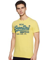 Superdry Vintage Logo Fade Mid Weight T T-Shirt - Jaune