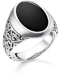 Thomas Sabo Unisex Ring Schwarz 925er Sterlingsilber, Geschwärzt TR2242-698-11 - Mehrfarbig