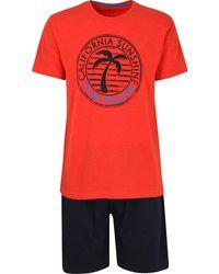 Tom Tailor Nightwear Kurz-Pyjama - Rot