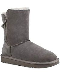 bc5b465f906 UGG Classic Short Sparkle Genuine Shearling Boot in Metallic - Lyst