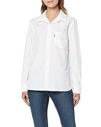 Levi's The Ultimate BF Shirt Blusa para Mujer - Blanco
