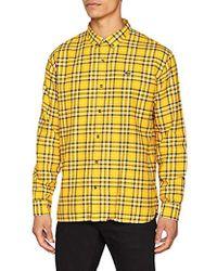 De Corta Versace Color Amarillo Estampada Manga Hombre Camisa eDYE29IHW