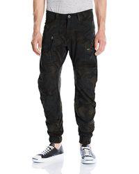 G-Star RAW Powel 3D Tapered Cuffed Pantalon - Negro