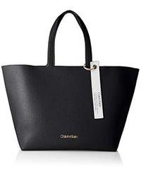 Calvin Klein Neat Ew Shopper - Nero