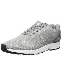 free shipping 87ef6 27bca Originals Zx Flux Trainers Aluminum/white - Gray