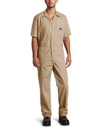 Dickies Short Sleeve Coverall - Natural