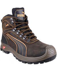PUMA Safety Sierra Nevada Mid S Safety Boots - Brown