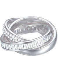 Esprit Ring JW50058 rhodiniert Zirkonia weiß Gr. 57 - Mettallic