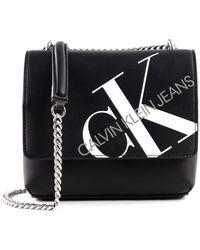 Calvin Klein Square Flap Crossbody Black - Nero