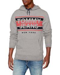 Tommy Jeans Herren Essential Graphic Zipthru Langarm  Langarmshirt