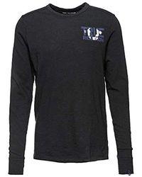 True Religion Langarmshirt Crew LS Block - Blau