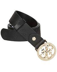 Guess ILENIA Adjustable Pant Belt Accessori Tessile Femmes Nero - EU L - Cinture