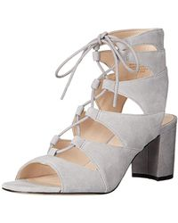 Nine West - Takeitup Suede Heeled Sandal - Lyst