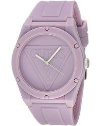 Guess Watches retro pop orologio Donna Analogico Al quarzo con cinturino in Silicone W0979L8-NA - Viola