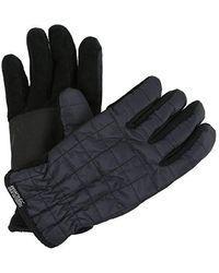 Regatta S Quilted Polyester Winter Warm Walking Hiking Gloves - Grey