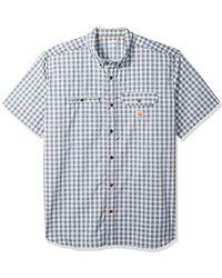 Carhartt - Big And Tall Force Ridgefield Plaid Short Sleeve Shirt - Lyst