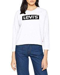 Levi's Graphic Gym Crew Sweat-Shirt - Blanc