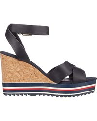 Tommy Hilfiger Colored Stripes Wedge Sandal - Azul