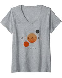 Dune Arrakis Planet Logo T-Shirt avec Col en V - Gris