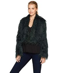 Keepsake - Aurora Faux Fur Shaggy Cropped Coat - Lyst