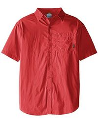 Columbia - Big-tall Thompson Hill Solid Short Sleeve Shirt-s - Lyst