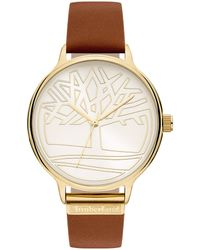 Timberland S Analogue Quartz Watch With Leather Strap Tbl15644myg.04 - Metallic