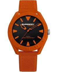 Superdry Analog Quarz Uhr mit Silikon Armband SYG243O - Orange