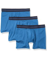 Goodthreads 3-Pack Lightweight Performance Knit Boxer Brief Briefs - Azul