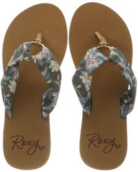 Roxy - Paia, Tongs , Bleu - Lyst
