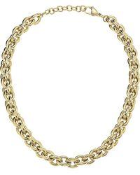 Calvin Klein Statement Gold Pvd Stainless Steel Ladies Necklace Jewellery - Metallic