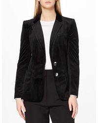 FIND Velvet Blazer - Chaqueta de traje - Negro