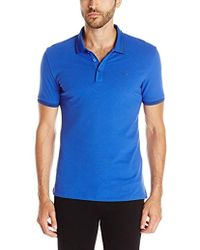 Armani Jeans - Tipped Short Sleeve Polo Shirt - Lyst