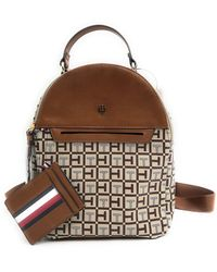 Tommy Hilfiger Rucksack City Backpack Mini Backpack Leisure Backpack Brown / Beige 20 X 20 X 10 Cm Carry Handle Hand Luggage 8446
