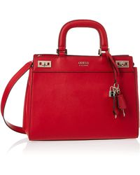 Guess Katey Luxury Satchel - Rosso