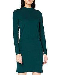 Tom Tailor Basic Stehkragenkleid Kleid - Grün