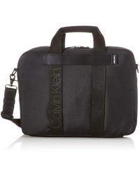 Calvin Klein Nastro Logo Laptop Bag - Noir