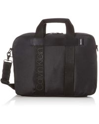 Calvin Klein Nastro Logo Laptop Bag - Nero