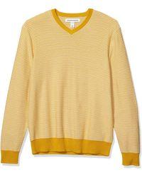 Amazon Essentials Sueter Cuello en V pullover-sweaters - Amarillo