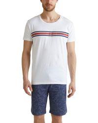Esprit Bodywear Aldred Nw Pyjama Pyjama Set - White