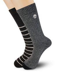 Timberland 2-pack Marled Boot Socks - Black